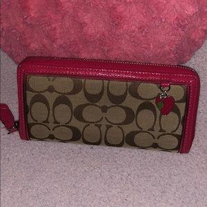 Strawberry Coach Wallet